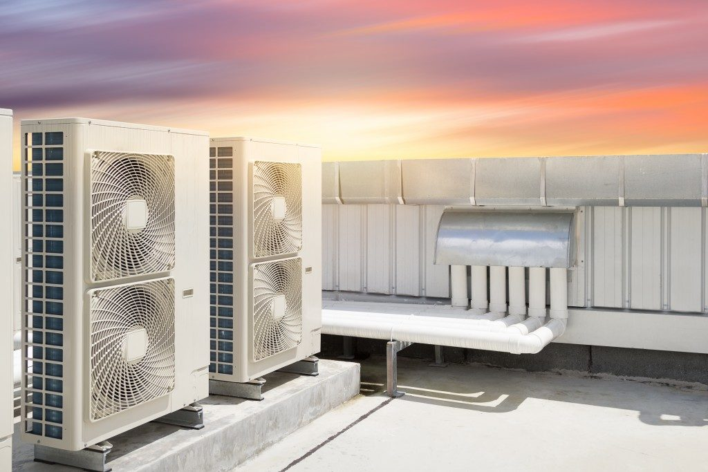 Heat pump on the rooftop
