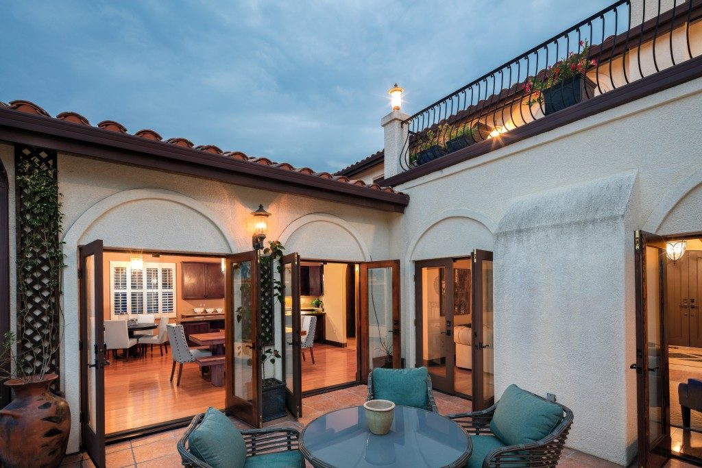 Spanish style open patio