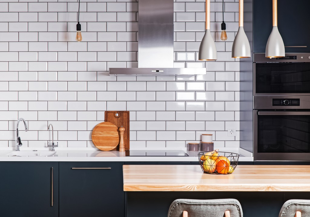 Tiles on a kitchen wall
