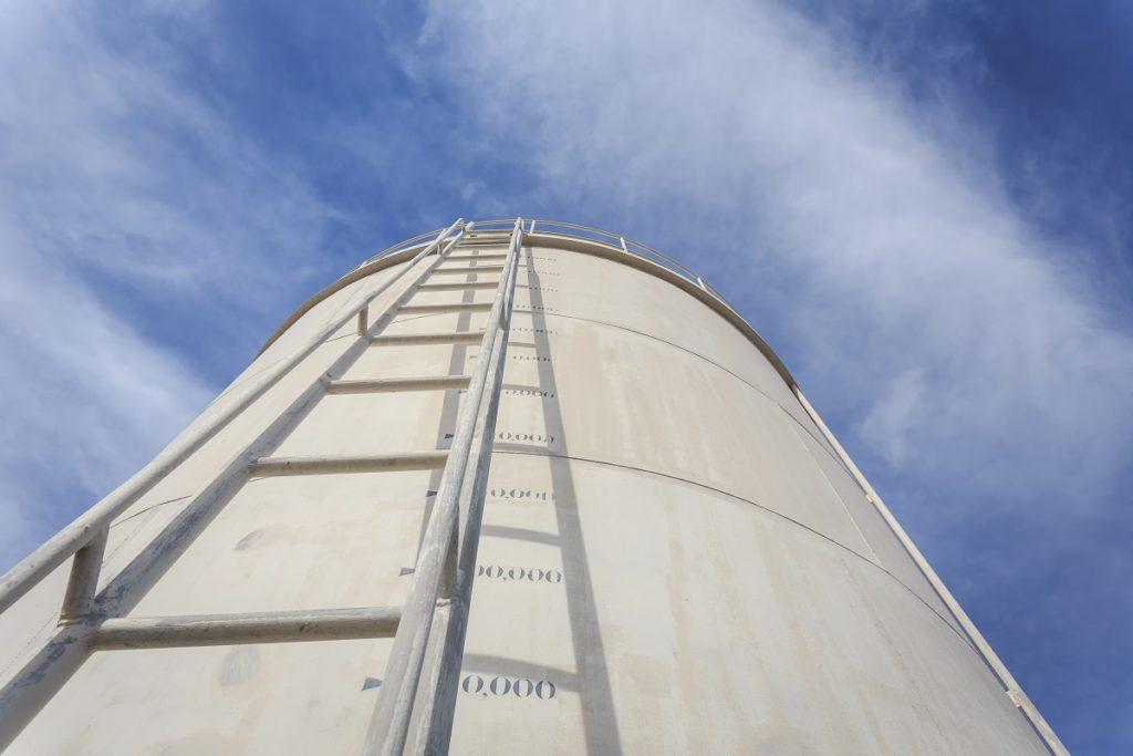 Ladder of a vertical tank