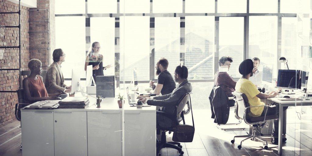employees in their desks