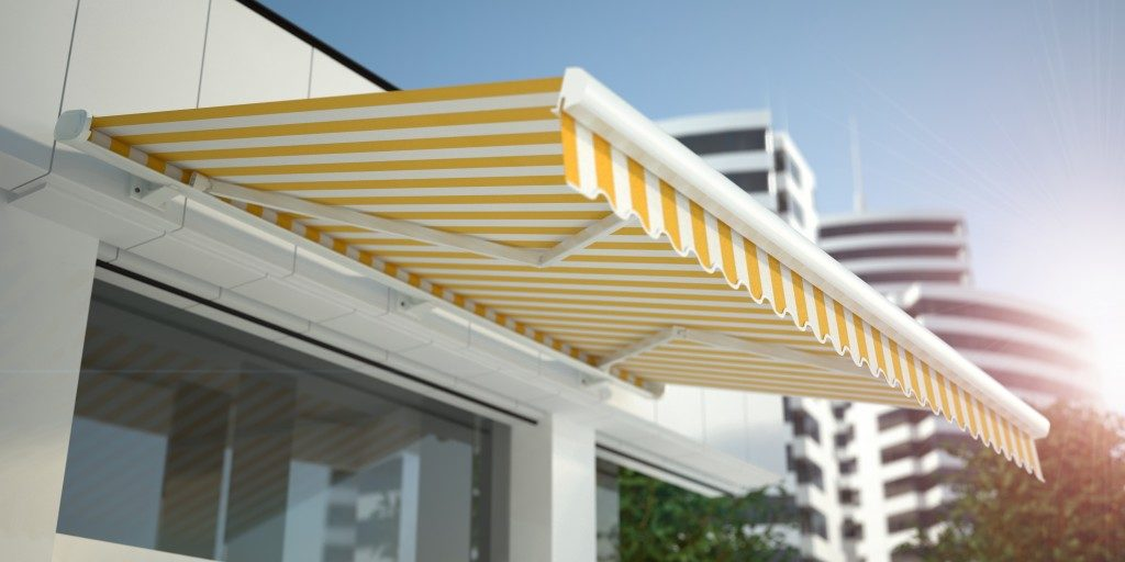 outdoor owning in white and yellow colors