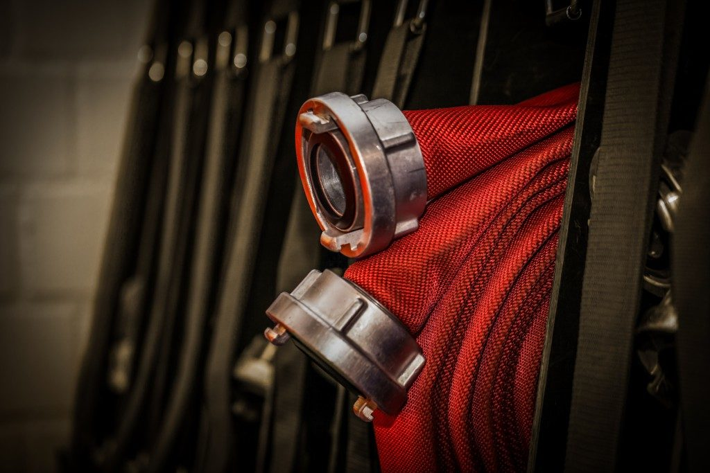 closeup of a firehose