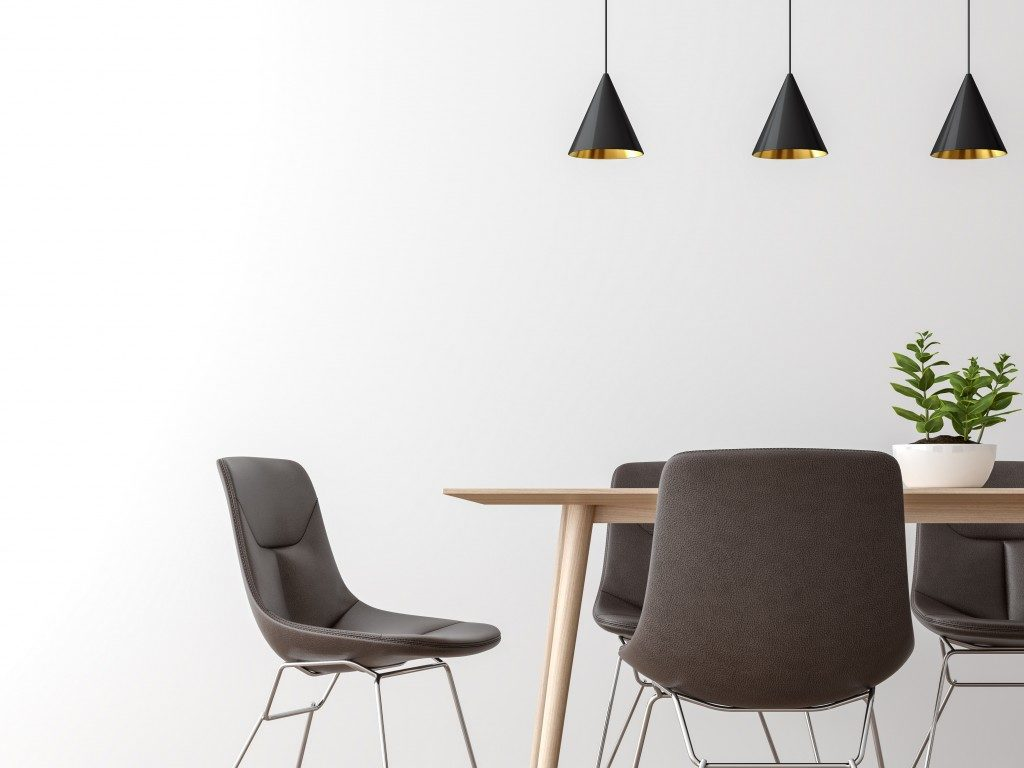 minimalist dining area