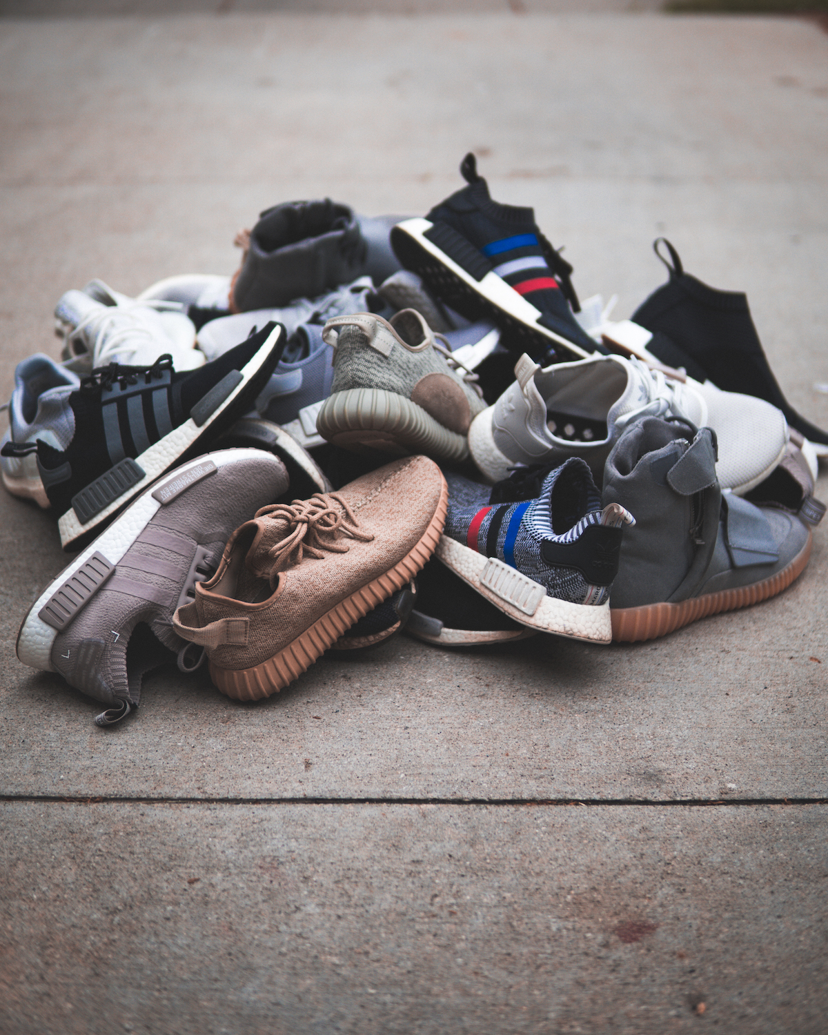scattered shoes on the floor