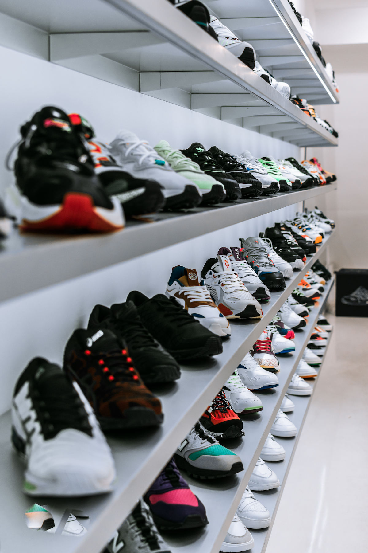 shoes on the rack
