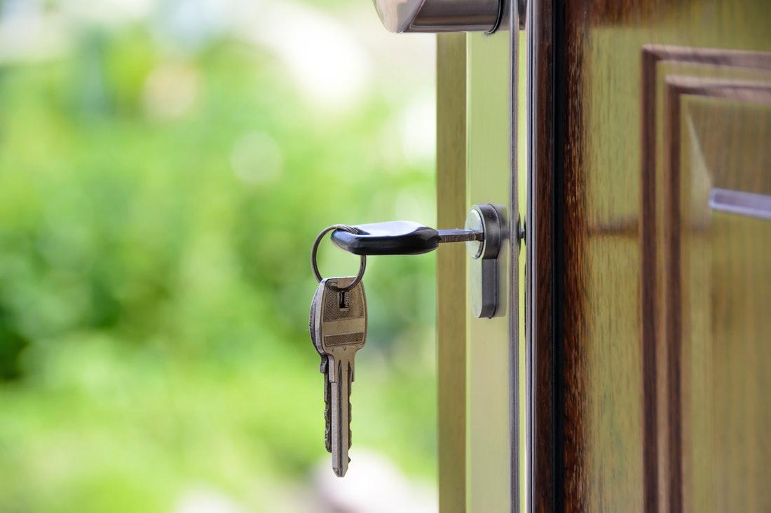 keys on the door